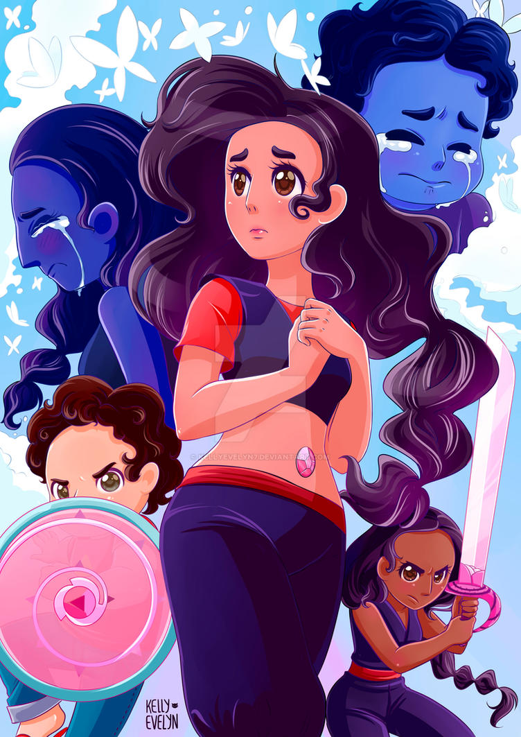 "Stevonnie is other of my favorites in steven universe after all it's the fusion of steven and connie, the ships of ships. I made this drawing right after seeing the chapter of ""mindful education"". ..."