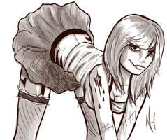 Zombie girl by nekohaisu