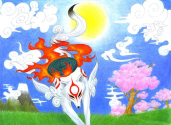 Okami: Amaterasu's arrival by Avadras