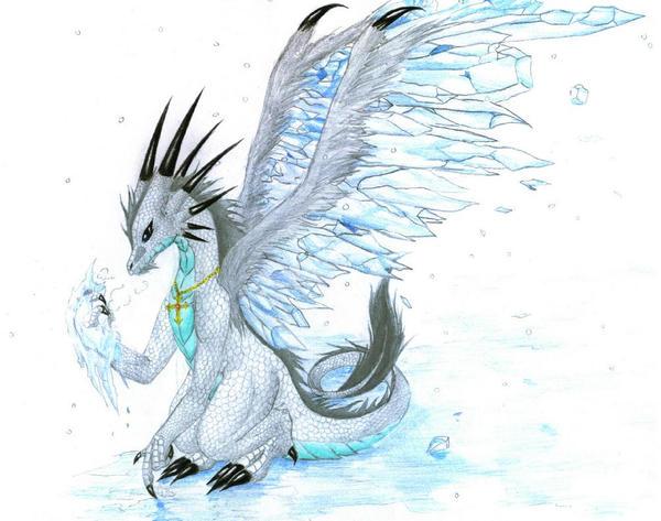 ice dragon by avadras on deviantart