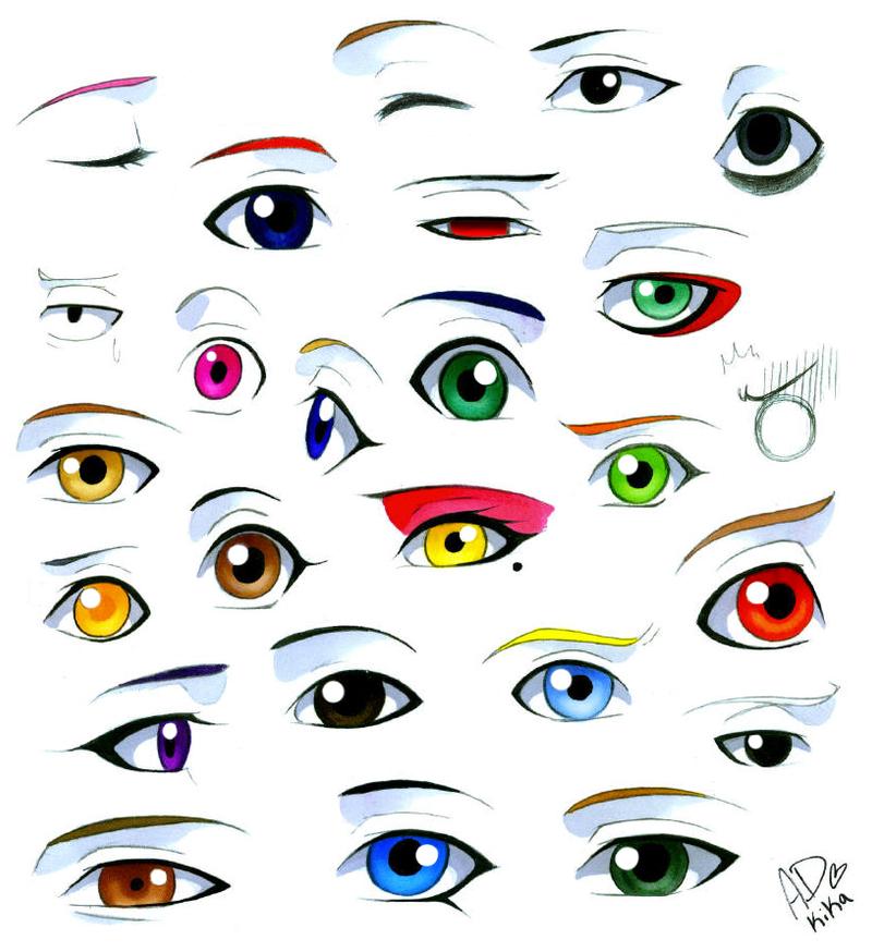 нарисованные глаза животных картинки