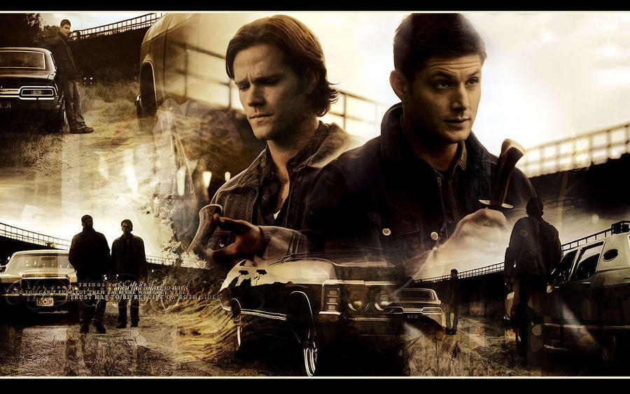 Supernatural - Dean and Sam Wallpaper by EdWinchester91 on ...