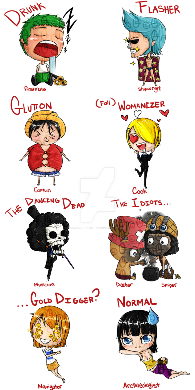 Straw Hat Chibis by OMGProductions