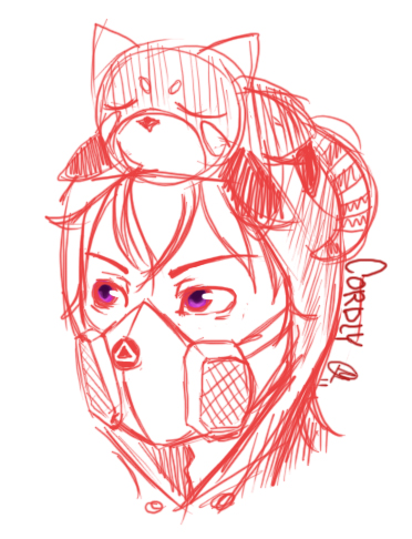Cordly Headshot doodle by OMGProductions