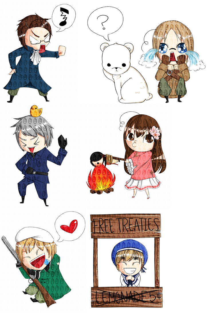 Hetalia chibis 2 by OMGProductions