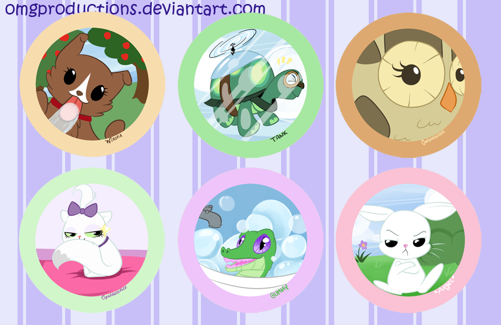 Mane 6 Pets by OMGProductions on DeviantArt