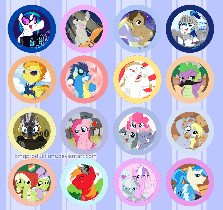 Pony buttons by OMGProductions