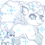Pixel: Alolan Vulpix by OMGProductions