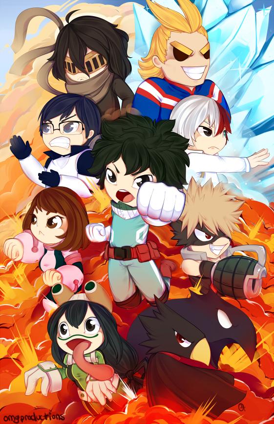 Print: Boku no Hero Academia by OMGProductions