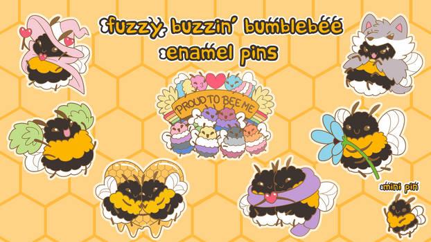 Kickstarter: Fuzzy Buzzin' Bumblebee Enamel Pins