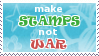 Stamps not war STAMP by lonewined