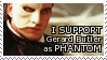 Gerard Butler Phantom STAMP by lonewined