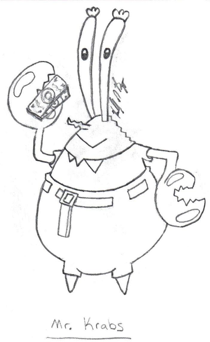 Slappping spongebob mr krabs coloring pages coloring pages for Mr krabs coloring pages