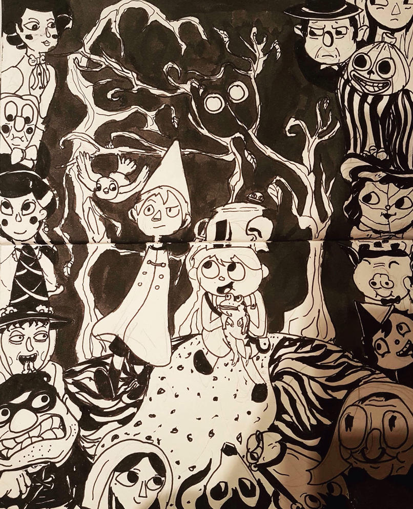 INKTOBER DAY 5: Over The Garden Wall by PaddyTheDog on DeviantArt