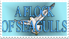 A Flock Of Seagulls Stamp by seagaull