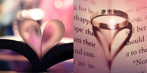 the book and heart cliche