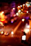 A city lit by fireflies