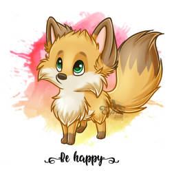 Be Happy Fox by Brontonia