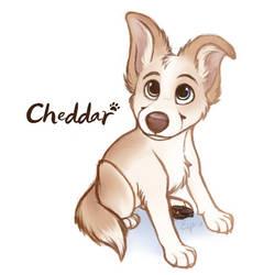 Cheddar Puppy Portrait by Brontonia