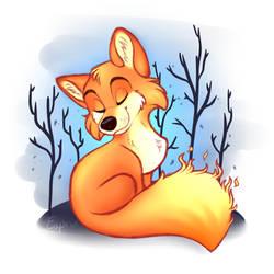 Firey Fox Redraw by Brontonia