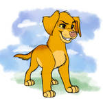 Dog-ified Simba Inktober Day 1