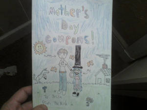 Mother's Day card/coupon book cover