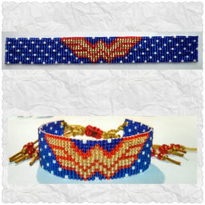 Beaded Wonder Woman Bracelet