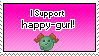 I Support happy-girl by IceXDragon