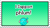 I Support phlum by IceXDragon