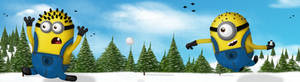 Minion Snow fight