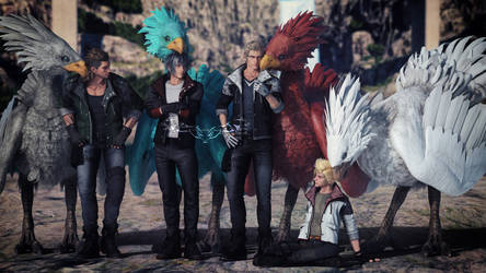 Chocobos and Chocobro's by NightysWolf