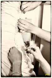 Bridal Preparations in Sepia