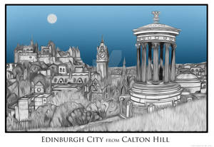 Edinburgh City from Calton Hill