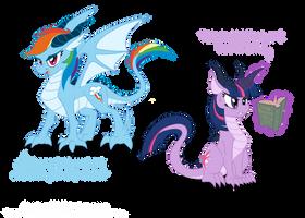 Dragon Ponies Set 1 by Blood-Asp0123