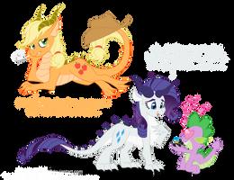 Dragon Ponies Set 3 by Blood-Asp0123