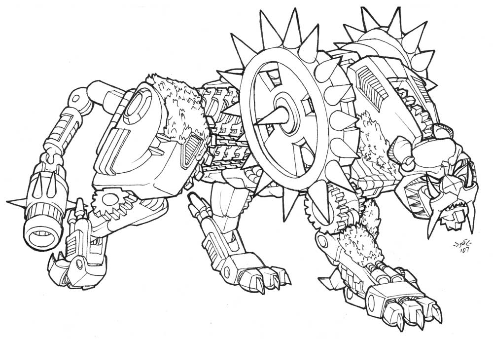transformer gears coloring pages - photo#5