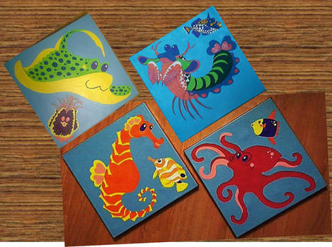 Sea Creature Paintings for Nursery