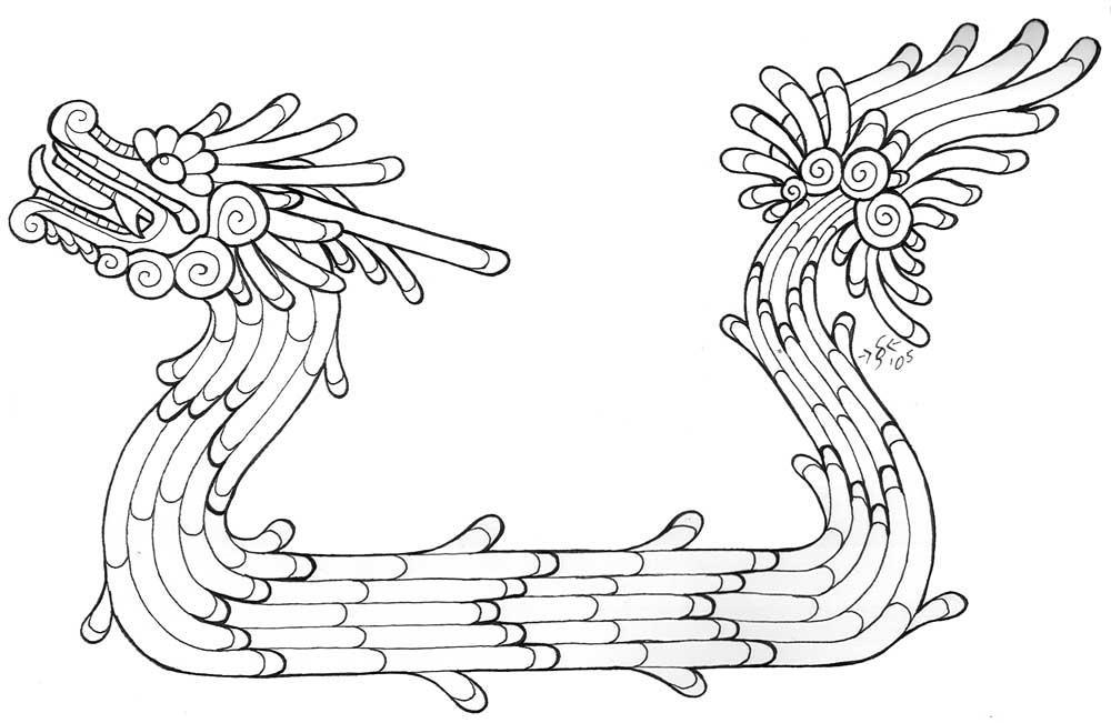 Stylized Quetzalcoatl Lineart by Heatherbeast on DeviantArt