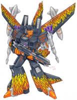 Magma, Decepticon, Colored by Heatherbeast