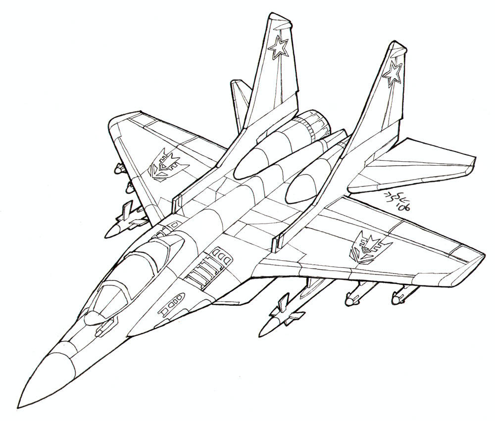 Transformers decepticons coloring pages coloring pages - Coloring Book Mig 29 Fulcrum By Heatherbeast