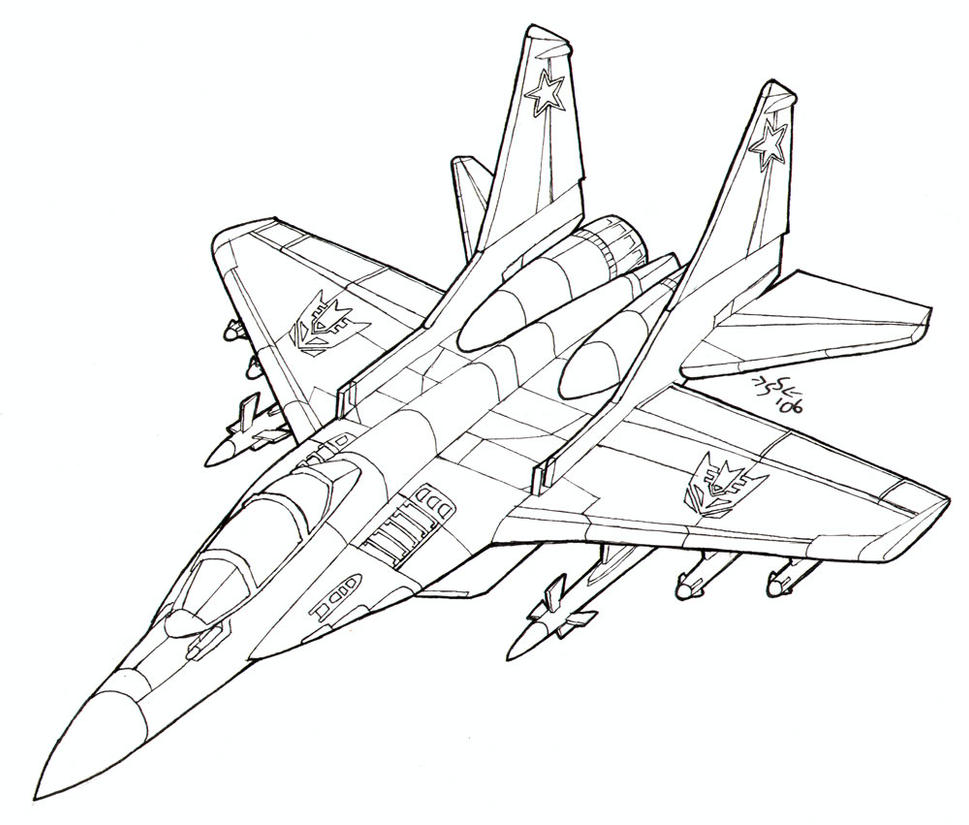 Coloring pages jets - Coloring Book Mig 29 Fulcrum By Heatherbeast
