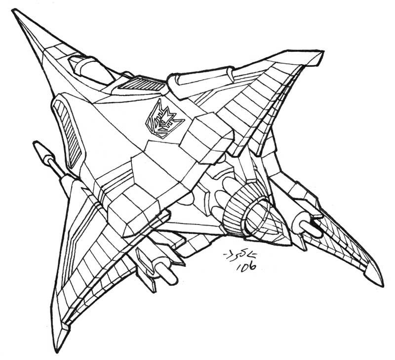 Decepticon tetrajet lineart by heatherbeast on deviantart for Starscream coloring page