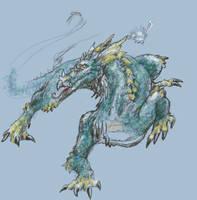 Slink Dragon, DigitaExperiment by Heatherbeast