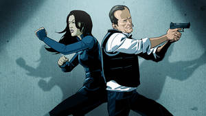 Agent May and Coulson