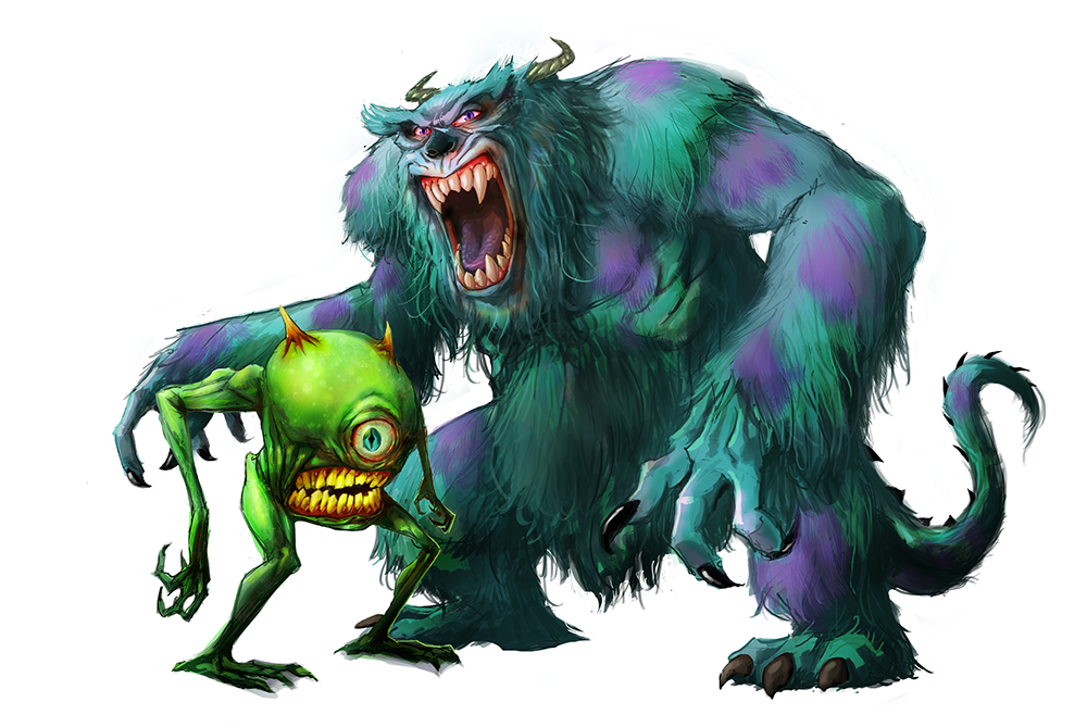 Mike And Sulley By Pungang On DeviantArt