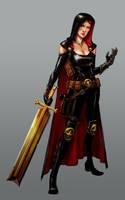 Warrior Nun by pungang