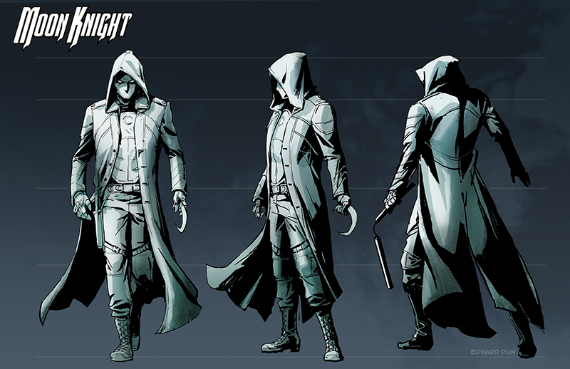 Moon Knight costume design by pungang on DeviantArt