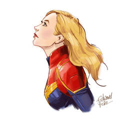 Captain Marvel by pungang