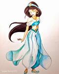 A Coloring of Princess Jasmine by ArteSusanna