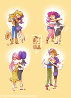 The Art Of Hugging by Anthea-Papillon